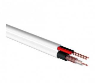Кабель Видеонаблюдения REXANT D=5мм +2*0.5мм 305м белый (ККСВ)