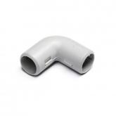 Угол 90° для труб 25мм разборный (серый)