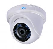 Установка камеры видеонаблюдения TVI RVi-HDC311B-AT (2.8 мм)